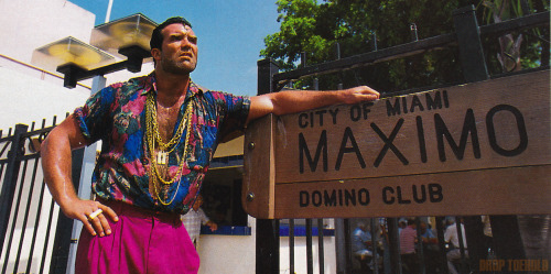 Razor Ramon - WWF Magazine [October 1992] I included this photo in that WWF Magazine piece I transcribed earlier today, but I think that it warranted its own single post. Such a great look.