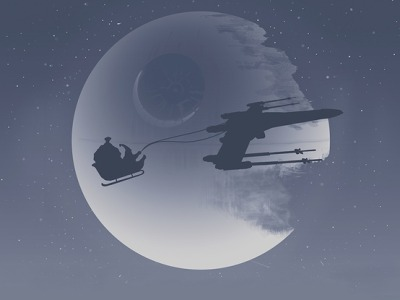 "Santa Claus is Coming to Town For the last few years NORAD and Google have partnered to track Santa's flight. This year though, the aerospace agency will use Bing and Microsoft's Windows Azure cloud computing platform. Eager Santa watchers will also have dedicated Windows Phone and Windows 8 apps to follow along. The 62-year history of NORAD's Santa tracking is interesting. It all started with a typo. Via TechNet:    [The] error ran in a local Colorado Springs newspaper back in 1955 after a local department store printed an advertisement with an incorrect phone number that children could use to ""call Santa."" Except that someone goofed. Or someone mistook a three for an eight. Maybe elves broke into the newspaper and changed the number. We'll never know. But somehow, the number in the advertisement changed, and instead of reaching the ""Santa"" on call for the local department store, it rang at the desk of the Crew Commander on duty at the Continental Air Defense Command Operations Center, the organization that would one day become the North American Aerospace Defense Command, or ""NORAD."" And when the commander on duty, Col. Harry Shoup, first picked up the phone and heard kids asking for Santa, he could have told them they had a wrong number. But he didn't. Instead, the kind-hearted colonel asked his crew to play along and find Santa's location. Just like that, NORAD was in the Santa-tracking business.    Last year more than 20 million people around the world followed Santa via the NORAD Santa Tracker Web site and another hundred thousand called in to dedicated telephone operators. You can do so this year starting December 24. Image: Star Wars Christmas by Bart Zimny."