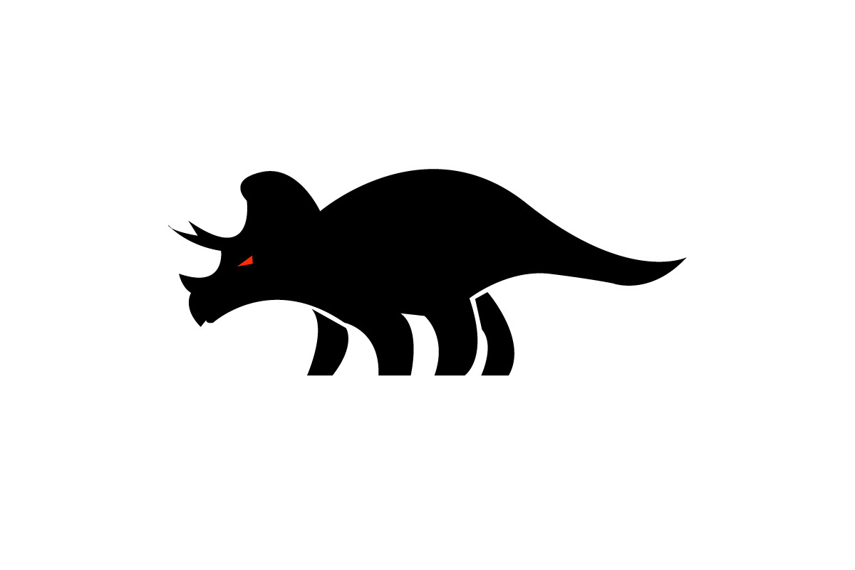 Triceratops logo alternate done for client. Designed by Jeremy Biggers.