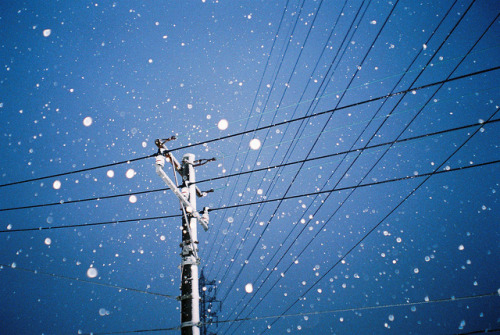 dreams-of-japan:  Snowy night by P5000 on Flickr.