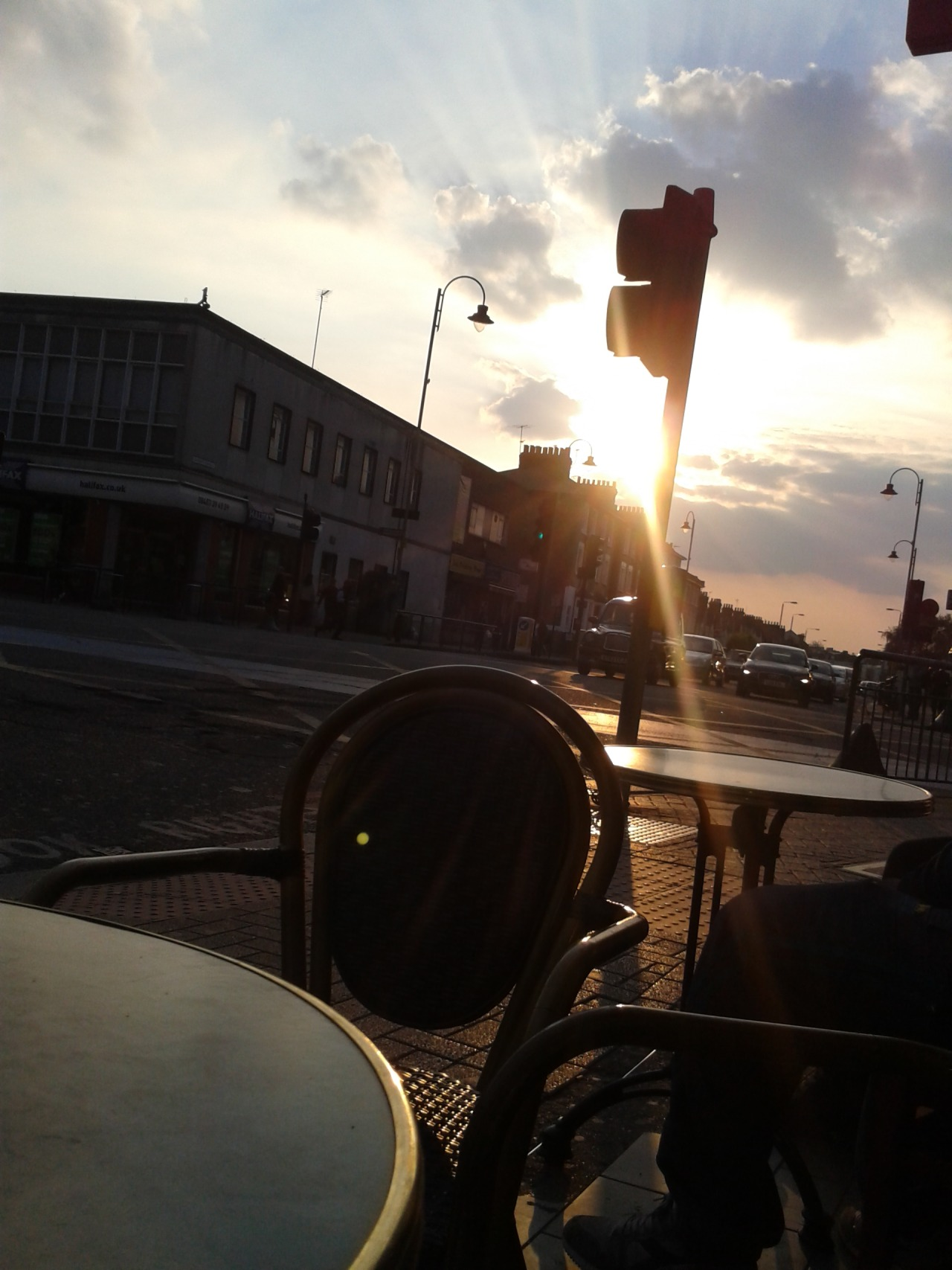 Beautiful sunset outside Nero's - Tooting