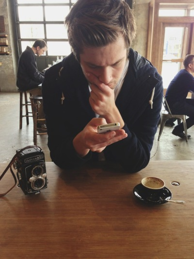 meggielynne:  shawnlowe:  Portland hipster  that coffee, that hair, that scruff —