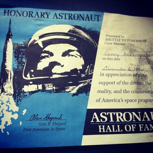 Found this in a box of old things. #CANYOUSAYBALLER #nasa #astronaut #capecanaveral #gpoy #spaceprogram #alanshepherd #throwback