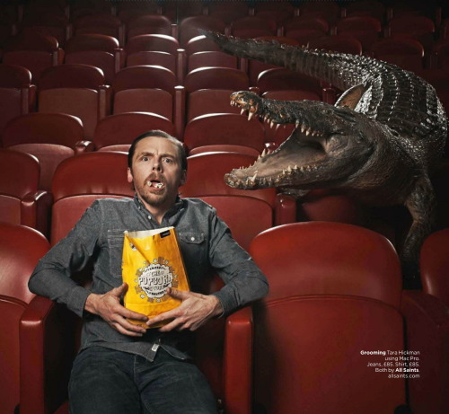 gasstation:  Simon Pegg: GQ Comedy Portfolio - GQ UK photographed by John Whight, April 2013