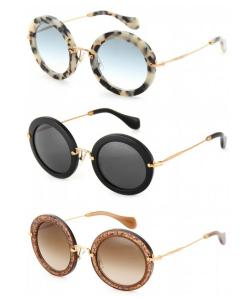 808s-and-oreos:   The perfect round sunglasses by Miu Miu. white havana, black or bronze?  WHITE HAV.