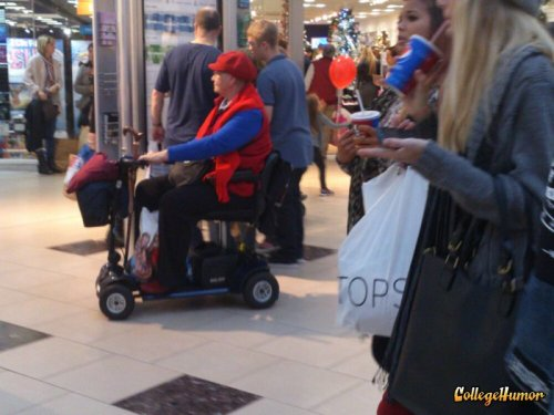 Senior Mario Kart After retirement, Mario's life went down the tube.