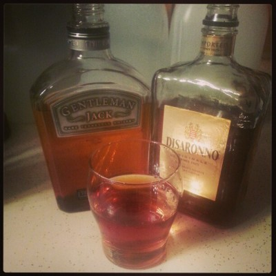 So about this #JackHammer with #GentlemanJack aka #JackDaniels and #Disaronno. #PrettyDamnGood. @trisheena88