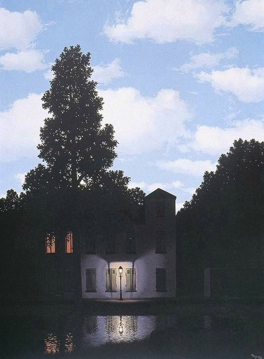 thegildedrage:  Dominion of Light. Rene Magritte. 1950