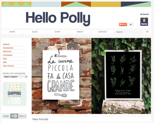 My prints just arrived in lovely Hello Polly online store!  Hello Polly is committed to bringing you a unique mix of art and design from independent artists. They have gorgeous collection of products, check it out here: http://hellopolly.com.au/