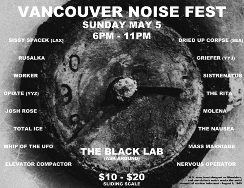 Total Ice is playing at Noise Fest