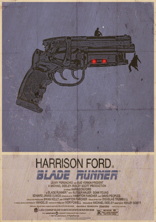 shigella:  Blade Runner Alternative, Minimalist Poster by ~3ftDeep