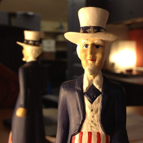 Christmas present to add to my menagerie. #plastic #unclesam #xmas