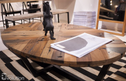 This table's wood was salvaged from a shipwreck in Indonesia! Eco Monday: Sustainably-Sourced Coffee Table by Aellon