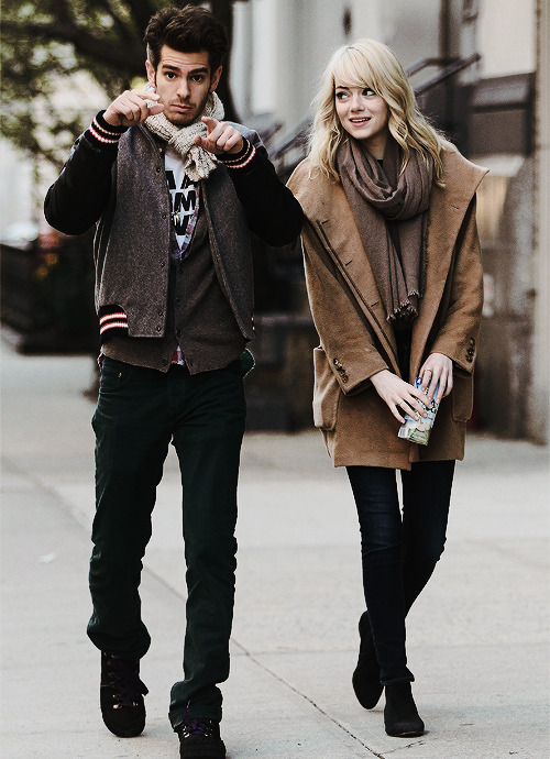 leggobeans:   Emma & Andrew - Out & About in Tribeca,NYC [April 13,2013]  I swear. They're thee cutest.