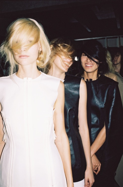 horreure: Backstage at Maison Martin Margiela SS12