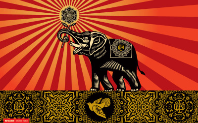 Elephant. More Shepherd Fairey goodness from the Obey Giant archives.
