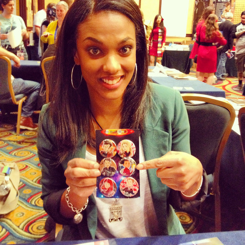 i gave a set of my buttons to freema agyeman at gally!! she is the cutest person in the universe