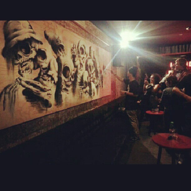Thanks to everyone who came down to Dirty Playground last night to support! It was a super fun night and it was great to meet you guys! All the tees ran out but prints are still available! The works are on show for the next two months, so go check it it if you missed it last night! #dirtyplayground #eleven #burgerboy