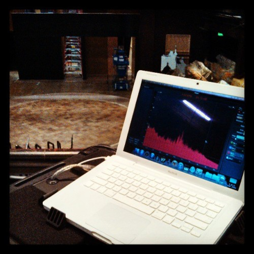 Tuning the audio system for My Fair Lady @triadstage  (at Triad Stage)