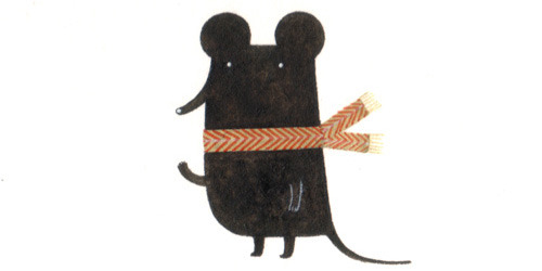 A scarf sporting shrew.