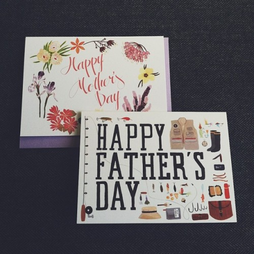 Got some samples for the Mother's and Father's Day cards I did in collaboration with @poketo