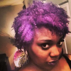 POOF! Purple haze all in my head… David Copperfield. #naturalhair #natural #color #purple #curly #diy #style #beauty #fyourstyle #2013 #new