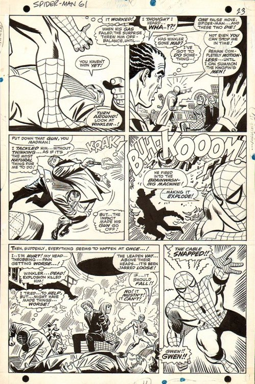 A page from AMAZING SPIDER-MAN #61 by John Romita, Don Heck and Mike Esposito