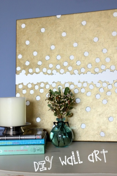 DIY wall art, via Just Kali Rae