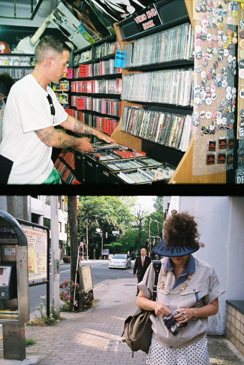 Digging Japanese Punk Records and Rolling Tabacco in Shinjuku Tokyo April 2013