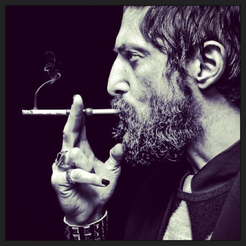 Tony Ward #tonyward #model #cool #sessy #smoking #beard #tattoos #blacknails #romannose #obsessed