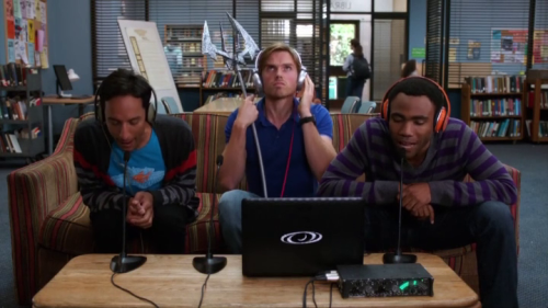 distantrecords:  I would explode from sheer happiness if the Troy and Abed Podcast were real.  Yep