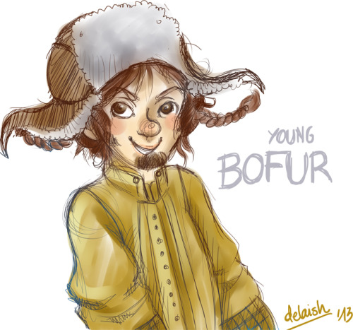 :) Young Bofur, so lovely smile! <3 Sketch done on SAI 8D