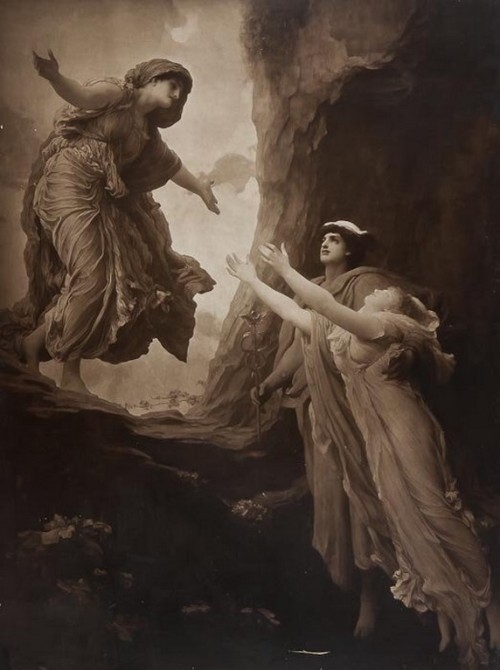 Frederick Lord Leighton -The Return of Persephone,photogravure( by Goupil & Co.), c.1885
