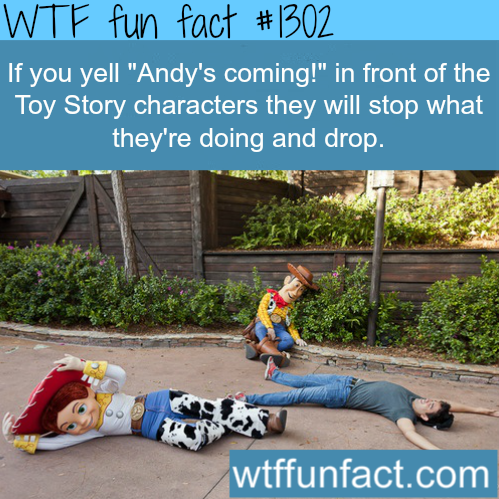 wtf-fun-factss:  Disney land bucket list - Toy story characters MORE OF WTF FACTS are coming HERE disney, movie  and fun facts  So doing this.