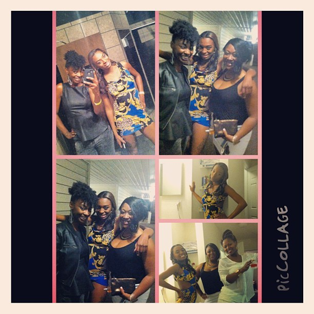 We had a ball last night me @lady_roe76 @nikki_high @chocolatelady0711 now I'm struggling off 4hrs of sleep at this graduation 😳😩#bennettcollege #graduation #northcarolina #fambam #darkskingirls #piccollage