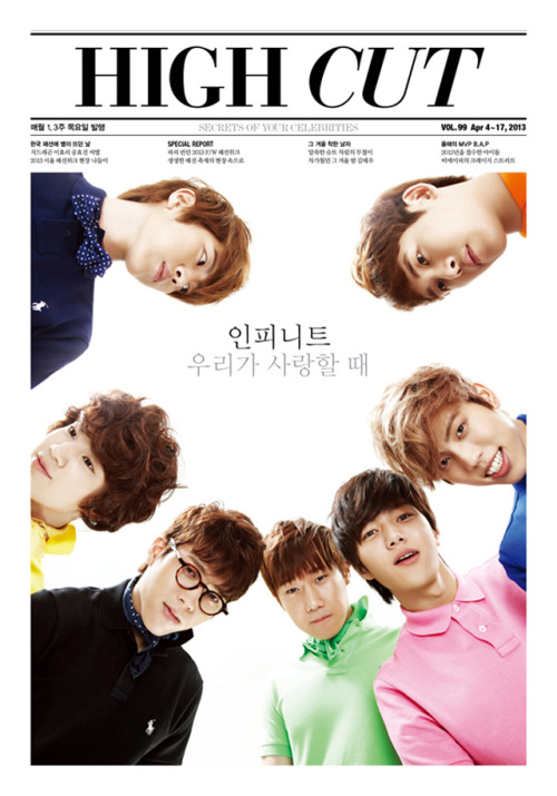 kmagazinelovers:  Infinite - High Cut Magazine Vol.99