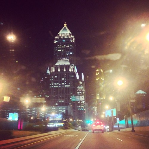 Just my drive home from work. #FILA #atlanta #lights #city #love (at 14th Street Bridge)