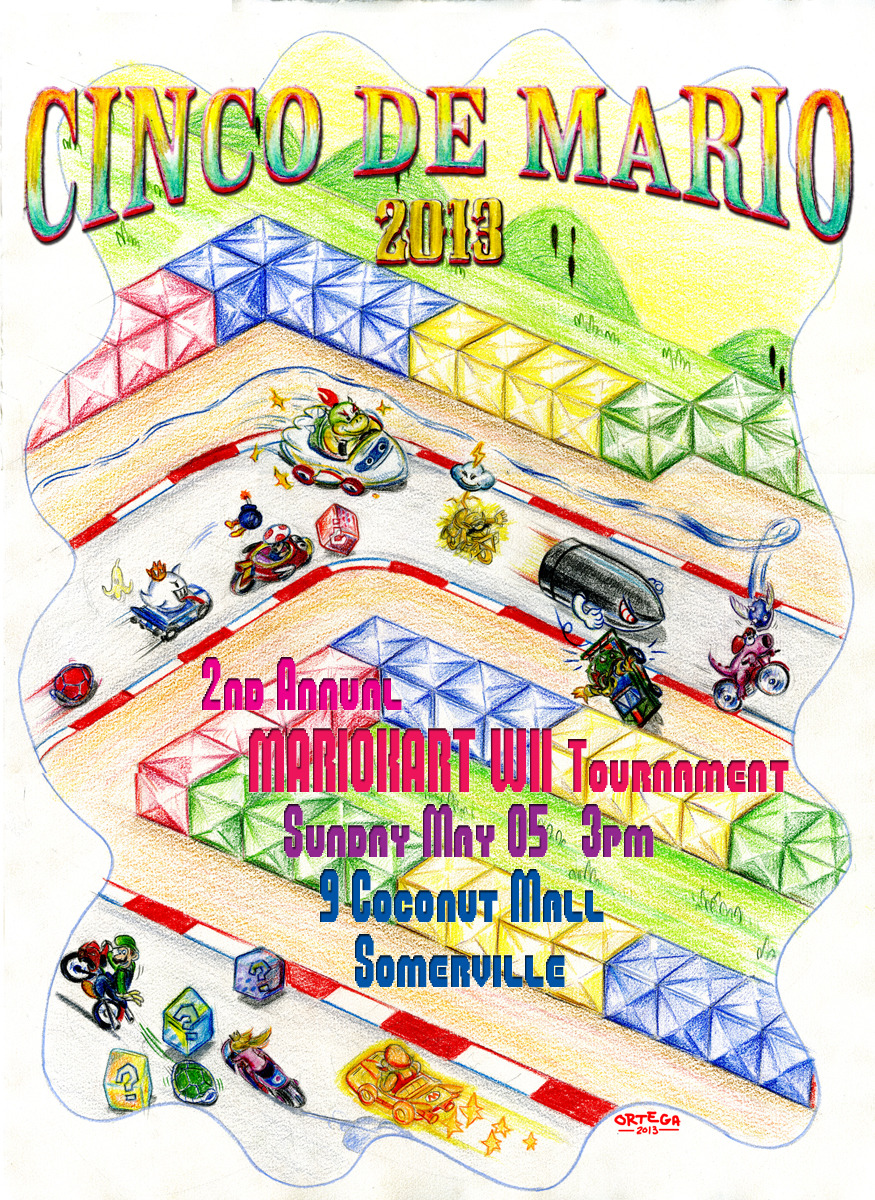 Poster for CINCO DE MARIO - MARIOKART Wii Tournament