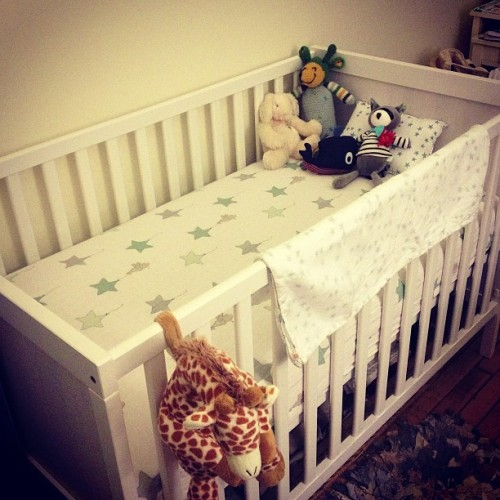 #baby crib and mattress are done! (Don't worry those stuff animals won't be in there when the baby is sleeping) #mlpregos