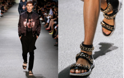 DIY DECEMBER // INSPIRATION: GIVENCHY MENS SS12/13 GLADIATOR SANDALS Yes, yes I know…another Givenchy (Riccardo Tiscci) inspired DIY. But I have just been so inspired from his latest Spring/Summer collection for Givenchy that I can't help but to re-create the looks. Following on from my Givenchy Rottweiler inspired t-shirt, this DIY is another SS12/13 goodie. The Givenchy Black Patent Gladiator Sandal with Gold Detailing (to be precise). Its a pretty simple one too. POST UP NOW! Clickity, click here.
