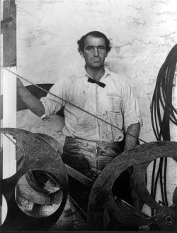 i12bent:  Jean Tinguely (May 22, 1925 - 1991) was a Swiss painter and sculptor. He is best known for his sculptural machines or kinetic art, in the Dada tradition; known officially as metamechanics. Tinguely's art satirized the mindless overproduction of material goods in advanced industrial society.