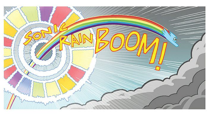 Two Rainbooms from the My Little Pony: Micro Series #2 - Rainbow Dash.