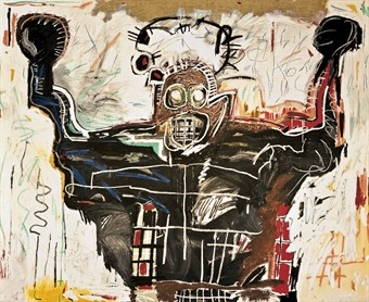 hydeordie:  Jean-Michel Basquiat Untitled (Boxer) 1982 And happy Boxing Day!