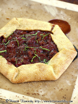Strawberry-Tomato Galette (1/2) by Bitter-Sweet- on Flickr.