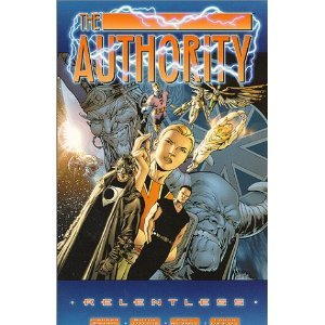 "The Authority Vol. 1: Relentless [Paperback] Warren Ellis (Author) 11 new from $30.85 25 used from $15.17 Are we ready for yet another take on superhero morality?Let's hope so, because The Authority: Relentless retools old ideas for a new century. Warren Ellis has his heroes think globally as they kick butt locally, stopping or slowing down to consider how they can use their powers to ""make the world a better place.""How he can pull this off in our oh-so-ironic age is an artistic mystery, but the results are clear: superheroes with believable personalities and community spirit."