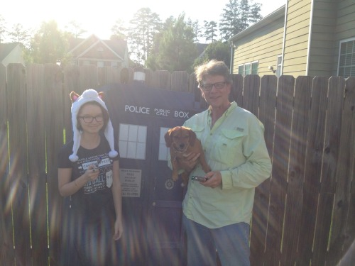roastedmartian:  my dog Alli joined my dad and I for Sonic Sunday