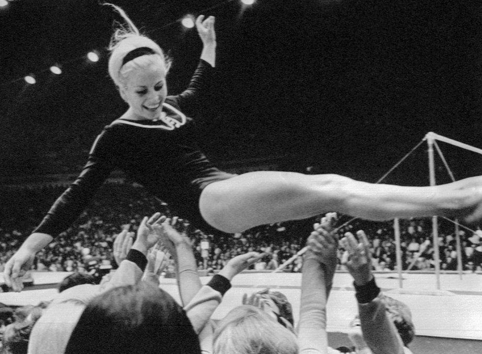 věra čáslavská | 1968 czech olympian who silently protested the soviet invasion. vera 68, a documentary detailing these events and other aspects of čáslavská's life, is screening at the cleveland film festival.