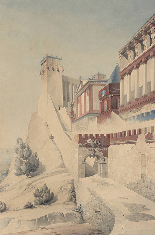 nickkahler:  Henri Labrouste, Imaginary Reconstruction of an Ancient City, c. 1860