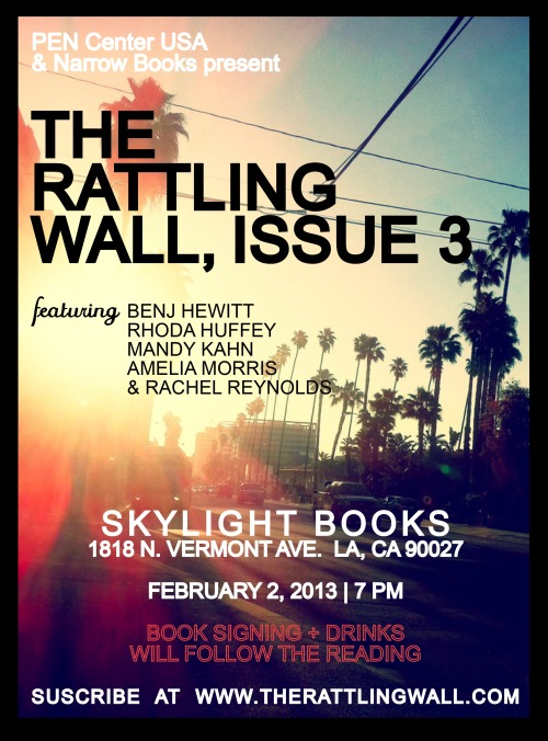 The Rattling Wall is about to show the east side some love. RSVP: http://www.facebook.com/events/221046684697829/?ref=ts&fref=ts