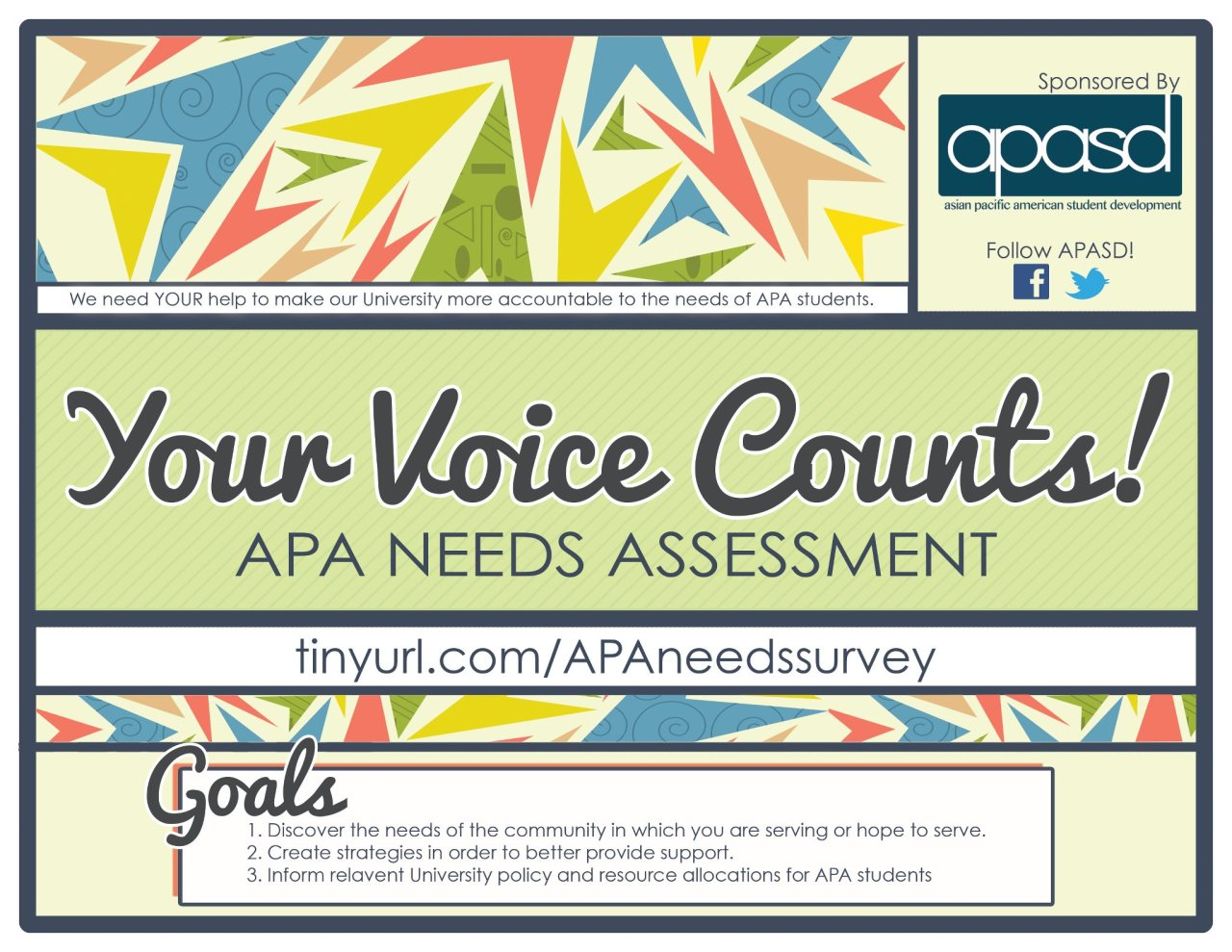 reachcampusorganizing:  Make YOUR voice count! APASD is conducting research within our community to ensure that the university is adequately meeting the needs of API students on this campus!Please share and complete this survey at: http://tinyurl.com/APAneedssurvey  Berkeley Blasting! More data means more depth in the research!